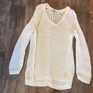 Loft White Textured Sweater